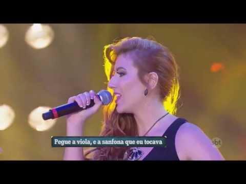 """""""Trechos de Canções Sertanejas"""" Ao Vivo no SBT Fabiola Fisher"""