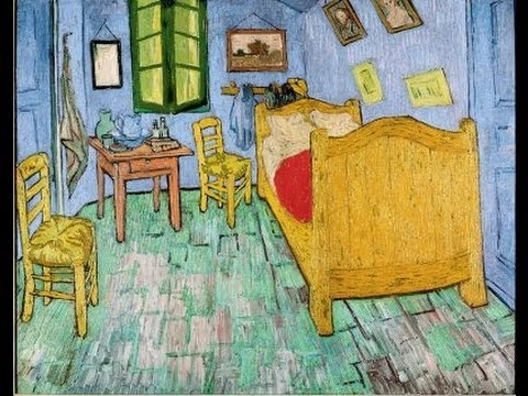 "amsterdam - van gogh's ""the yellow house"" & ""the bedroom in arles"