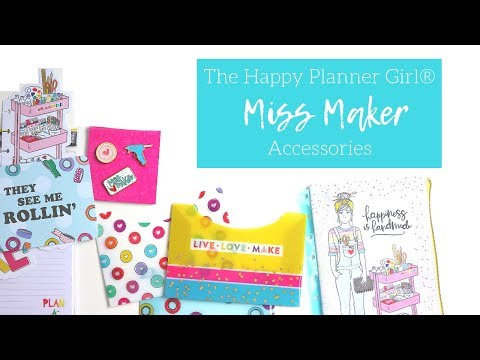 The Happy Planner Girl® MISS MAKER | Accessories