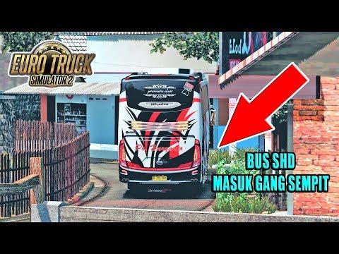 BODY TERGORES - Bus SHD PO HARYANTO Nek4t Masuk Gang Sempit, - ETS2 MOD INDONESIA - 동영상