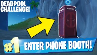 Enter a Phone Booth or Portapotty to become the Superest of Superheroes - Deadpool Challenge
