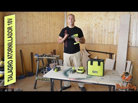 Taladro atornillador 18V para bricolaje. Ryobi Tools.