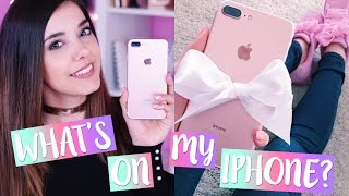 WHAT'S ON MY IPHONE 7 PLUS ORO ROSA?? COSA C'È NEL MIO TELEFONO?? | Vanessa Ziletti