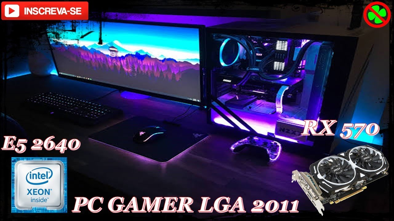 PC GAMER LGA 2011 XEON E5 2640 RX 570