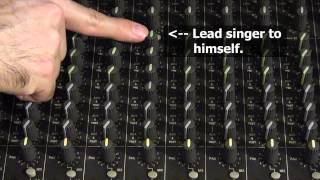 How to set up monitor mixes for live sound