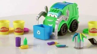 Плэй до  Пластилин Play doh мусорная машина