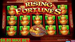 Rising Fortunes Slot Machine Bonuses Won & Big Win - AWESOME SESSION