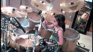 vuclip 10 Year Old Girl Drummer- Paulina From Mexico - My Life Would Suck-Cobus Version