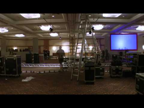 Morris Conferencing Conference Set-up (Time Lapse)