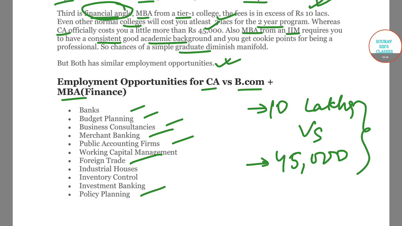 ca vs bcommba which career path is best for you career plans - Mba Career Opportunities Career In Mba Career Path