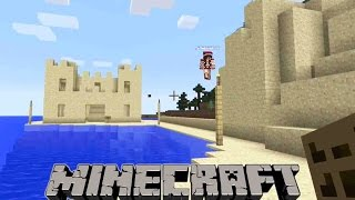 My Minecraft Realm - Let's Build a life sized sandcastle on the beach!