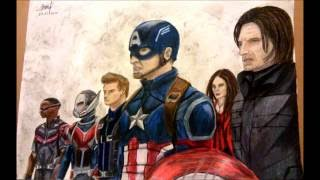 Speed Drawing: Team Captain America - Dibujo rápido: Equipo Capitán America