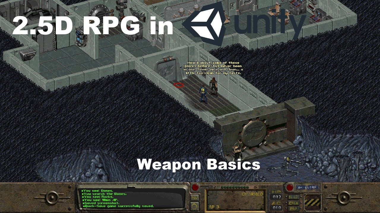 Lets Make A 2 5d Rpg In Unity Weapon Basics Youtube