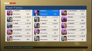 PES 2019 MyClub what happen if you train using same player experience ?