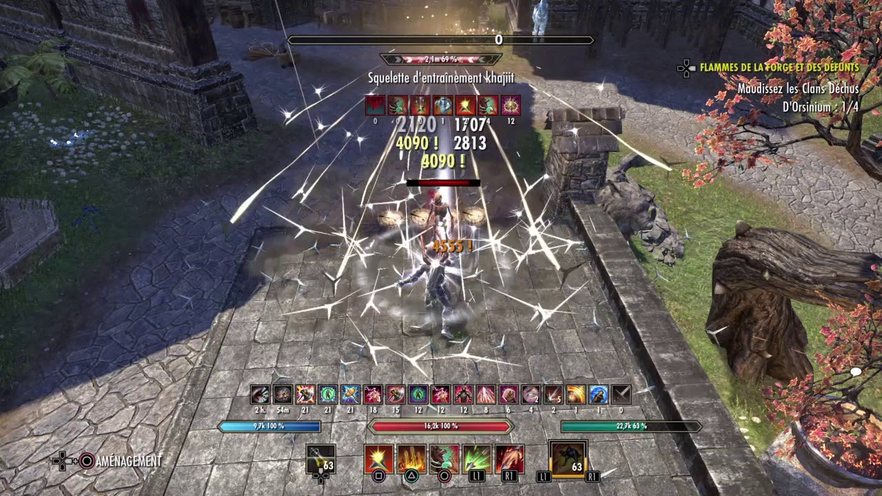 ESO - PvE- Stamblade 42k Dps test self buffed - Horns of the reach - PS4