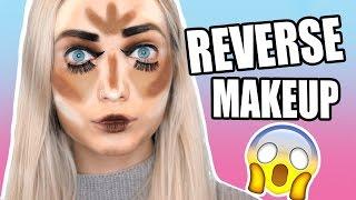 WTF! WEIRD FULL FACE OF REVERSE MAKEUP