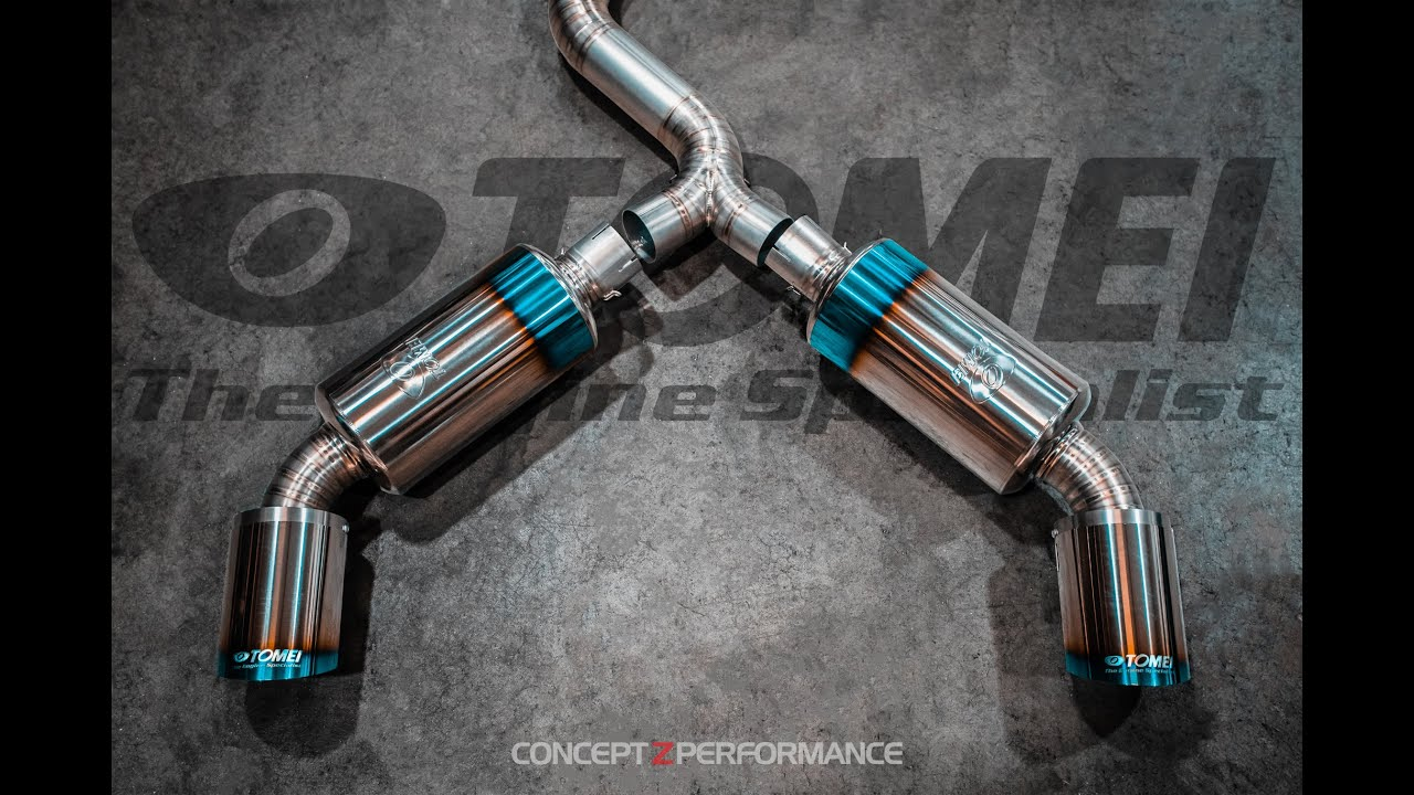 unboxing dual exit tomei powered japan ti racing titanium exhaust system for nissan 350z