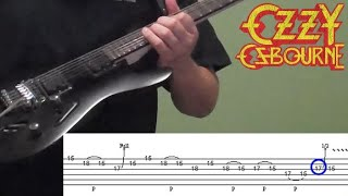 Guitar Lesson: Ozzy/Rhoads - I Don't Know (guitar solo, part one of two, including tabs)