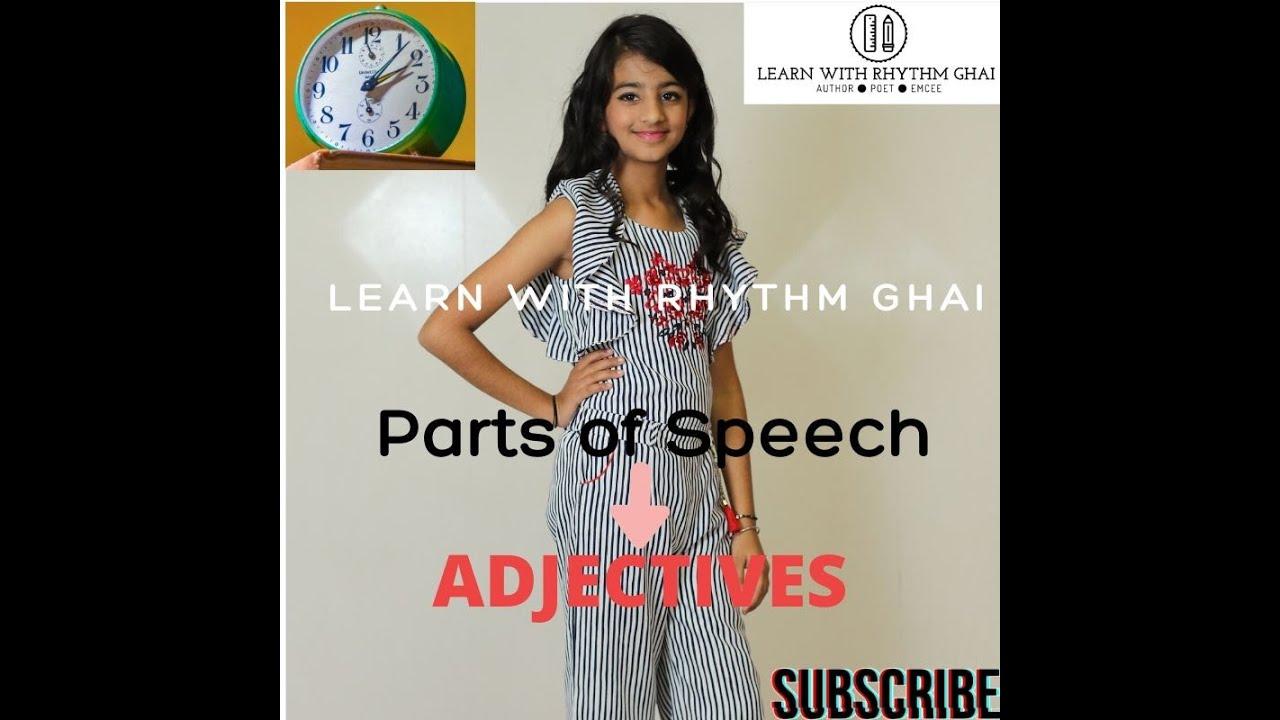 Adjectives Typesofadjectives Englishgrammar Learn With Rhythm Adjectives Types Of Adjectives Youtube