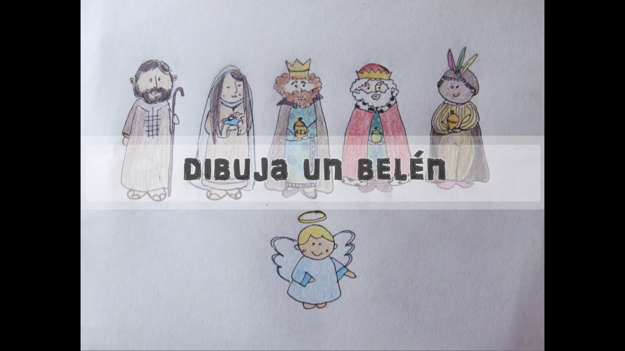 Dibuja un Belén [Dibujo fácil para niños☺] Especial Navidad III ...