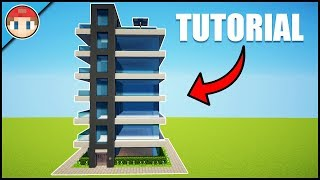 Minecraft: How to Build a Modern Skyscraper/Apartments (#1) - House Tutorial