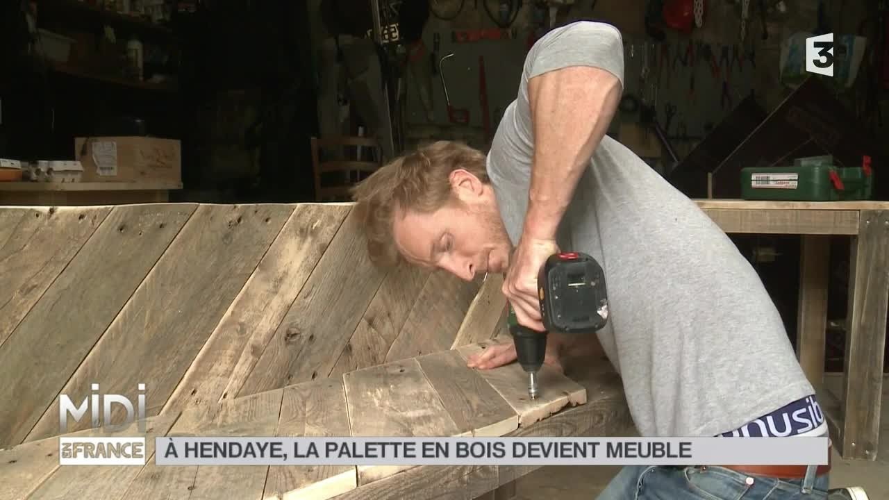 Lilou De La Palette made in france : À hendaye, la palette en bois devient meuble - youtube