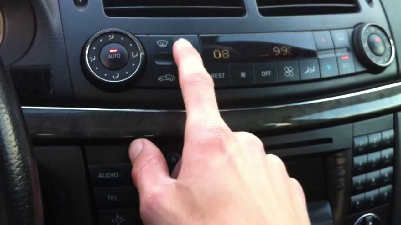 mercedes e-class w211 - hidden functions - youtube