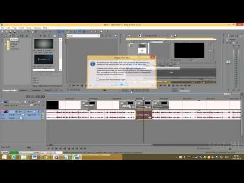 Как проиграть видео наоборот в sony vegas