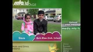 English - MTA Video Message from Ireland - Jalsa Salana 2012 Germany - Islam Muslim Ahmadiyyat MTA