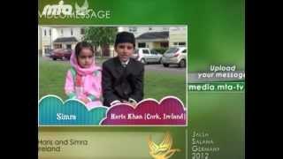 English - MTA Video Message from Ireland - Jalsa Salana 2012 Germany - Islam Muslim Ahmadiyyat MTA