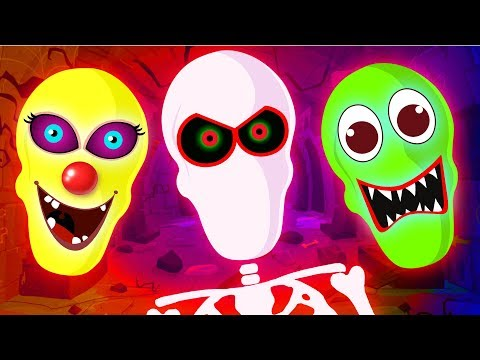 Funny Colored Glowing Faces Finger Family Song And Nursery Rhymes