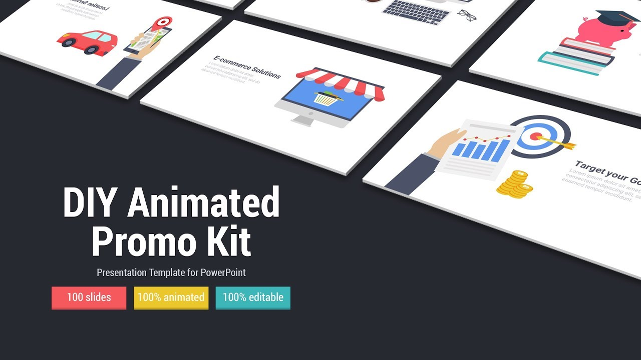 Diy Animated Promo Kit A Powerpoint Presentation Template Youtube