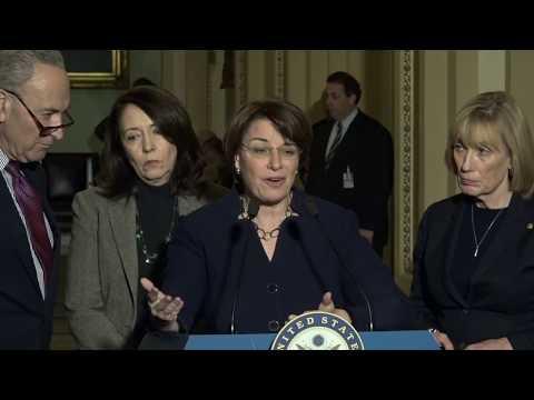 Senate Democrats brief press as tax reform moves
