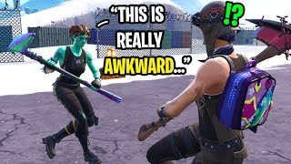 I met a girl with a GHOUL TROOPER in Fortnite random duos and THIS happened...