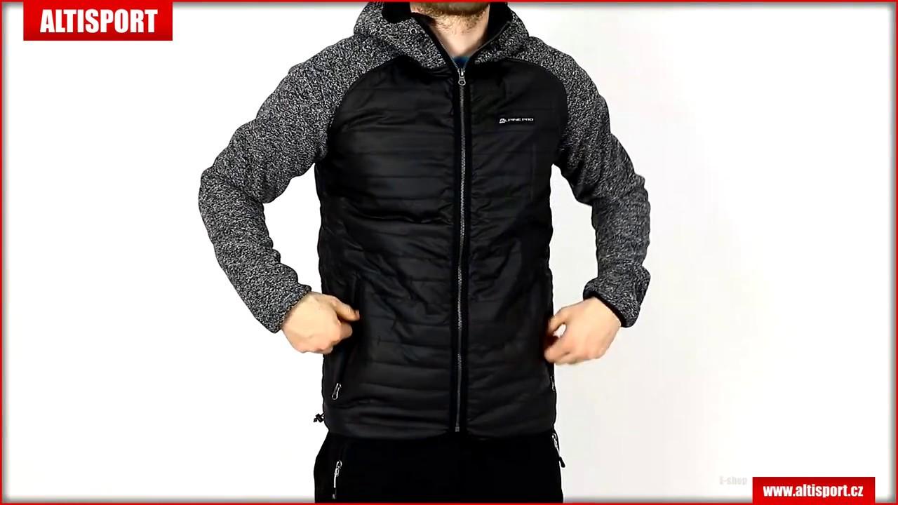 pánská podzimní bunda alpine pro nisif mjck223 černá - YouTube 408483dcc3
