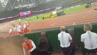 Mistrzostwa Świata LA Londyn 2017 Sztafeta 4×400m : Baumgart, Hołub; Święty,Gaworska