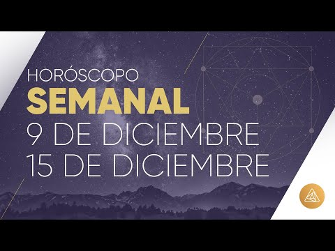 HOROSCOPO SEMANAL | 9 AL 15 DE DICIEMBRE | ALFONSO LEÓN ARQUITECTO DE SUEÑOS