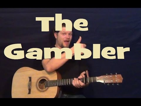 The Gambler (Kenny Rogers) Easy Guitar Lesson Strum Chords Fingerstyle Tutorial