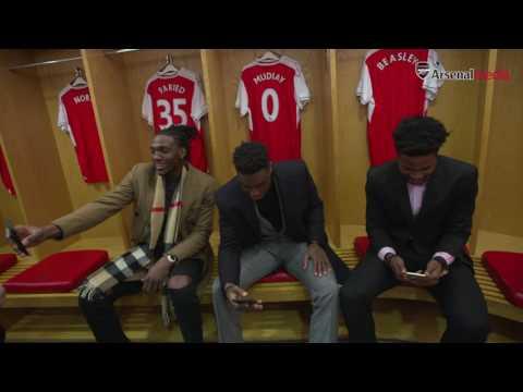 Denver Nuggets take a tour of Emirates Stadium
