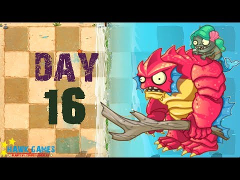 Plants Vs Zombies 2 - Big Wave Beach - Day 16 [Gargantuar Battle] No Premium