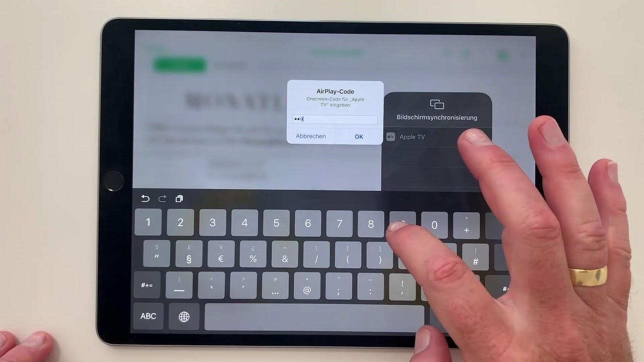 iPad: AirPlay am iPad nutzen - Kontakt mit dem Apple TV herstellen