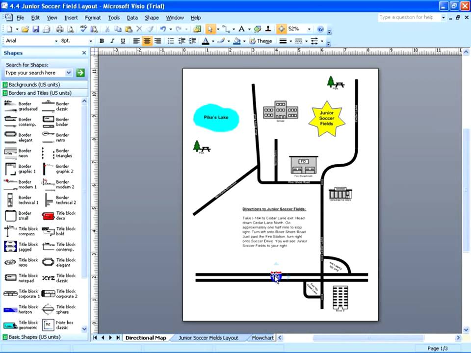 Visio 2007 - Linking to Other Pages  Shapes - YouTube