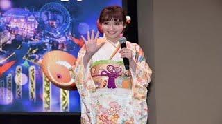 女優の飯豊まりえが7日、都内で「東京ドームシティ ウィンターイルミネ...