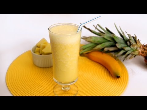 Pineapple Banana Smoothie Recipe - Laura Vitale - Laura in the Kitchen Episode 566