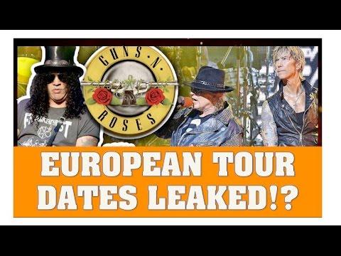 guns n 39 roses reunion 2017 european tour dates leaked youtube. Black Bedroom Furniture Sets. Home Design Ideas