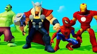 Мультик игра для детей все серии подряд на русском Тор Человек Паук Халк Железный Человек