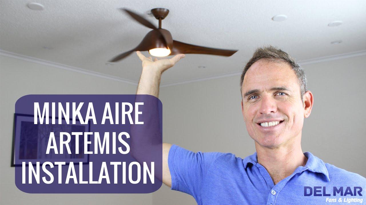 minka aire artemis ceiling fan installation [ 1280 x 717 Pixel ]