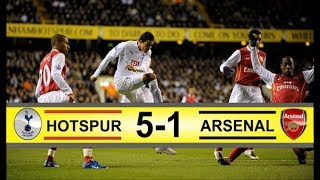 Tottenham vs Arsenal 5-1 | Carling Cup 1/2 Final 2008