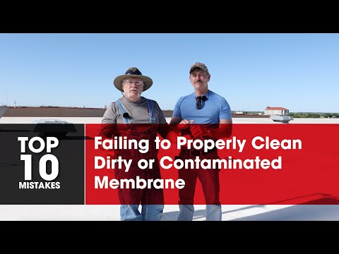 Failing to Clean Dirty TPO Membrane   Roofing it Right with Dave & Wally by GAF