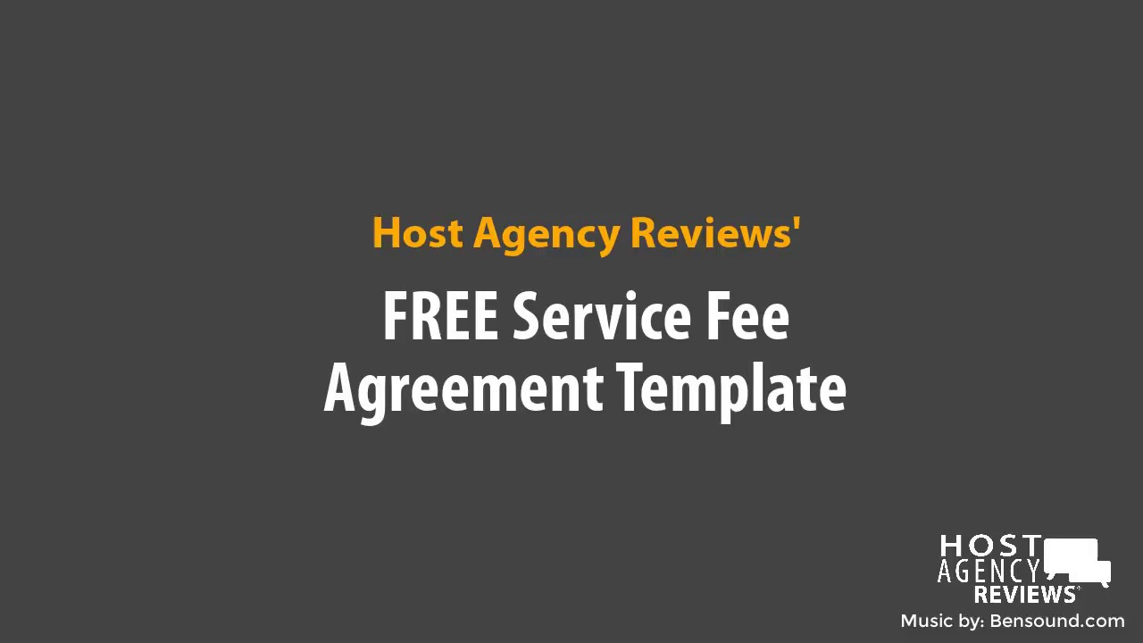 FREE Template Travel Agent Service Fee Agreement YouTube - Service fee agreement template